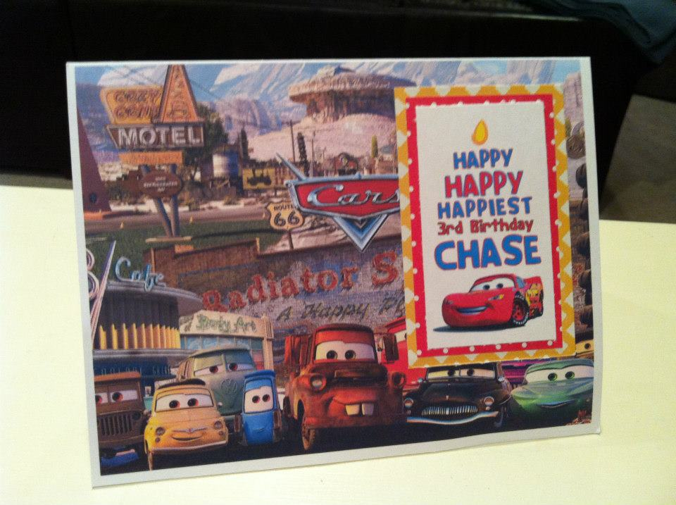 Cars Theme Child handmade one-of-a-kind Greeting Card