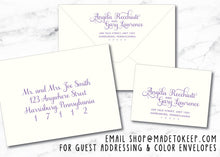 "Damask Colors Wedding Invitation ""Angela"" WED004"