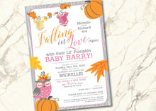Owl Hoot Baby Shower Invitation Pumpkin Fall - BAB002