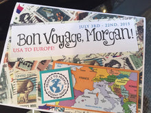 Bon Voyage Travel/Trip handmade one-of-a-kind Greeting Card