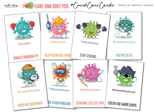 I Care-ona bout you! Note Cards - 8 Pack or 16 Pack