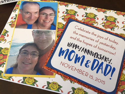 Mom & Dad Anniversary handmade one-of-a-kind Greeting Card