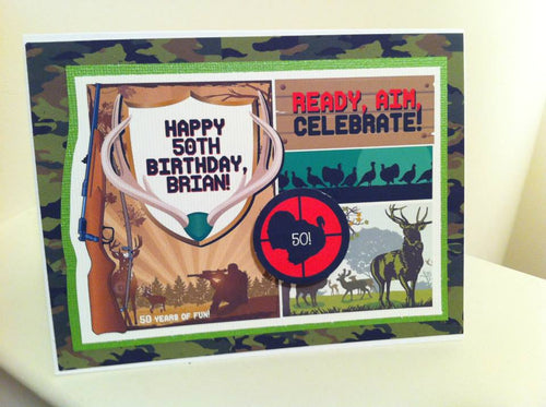 Hunting Theme Birthday Fathers Day handmade one-of-a-kind Greeting Card