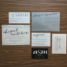 Speckled HandLettered Organic Design in Pocket Folder Wedding Invite - Abby WED001