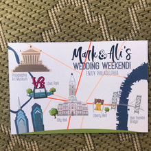 Philadelphia Colorful Wedding Invitation WED5001