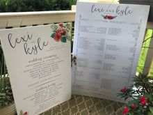 Floral Seating Chart - Digital Download / Paper Only / Foam Core