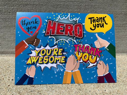Front Line HERO Thank You Card