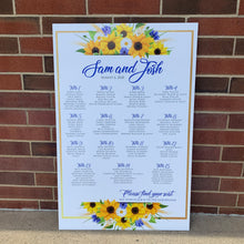 Sunflower Wedding or Event Seating Chart