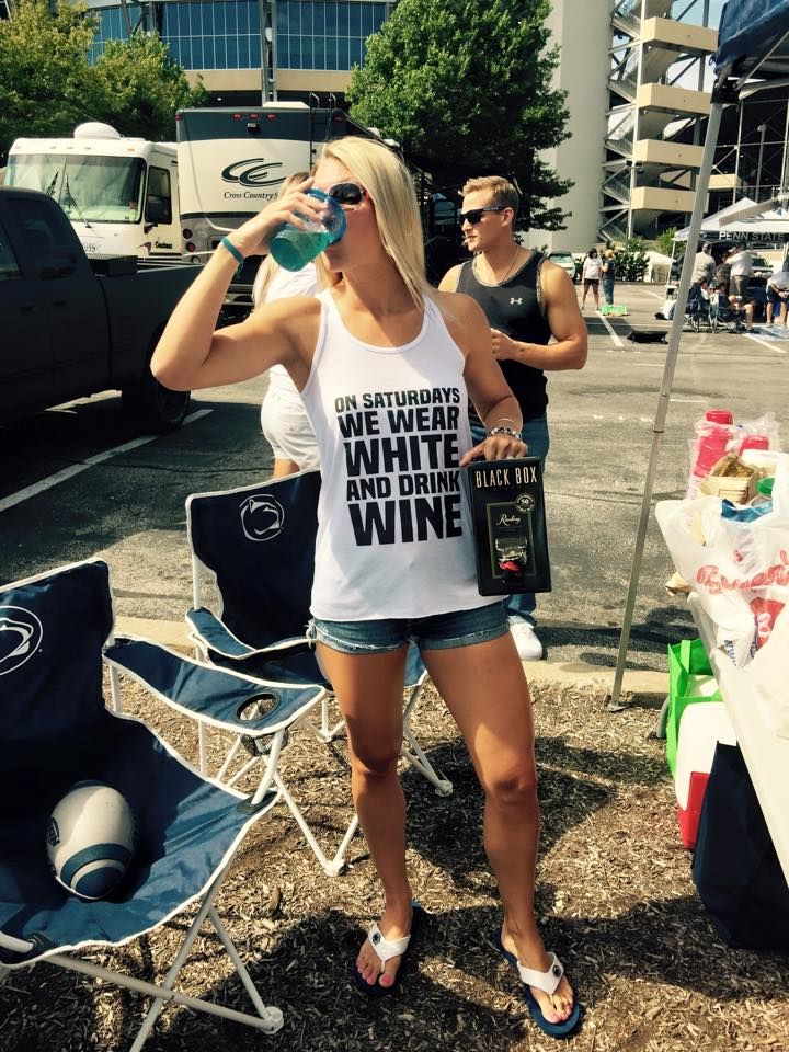 Saturdays We Wear White & Drink Wine Shirt/Tank- White Out PSU Penn State