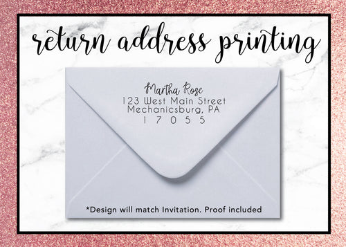 ADD RETURN ADDRESS (with FREE GUEST ADDRESS)