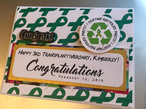 Transplantiversary handmade one-of-a-kind Greeting Card