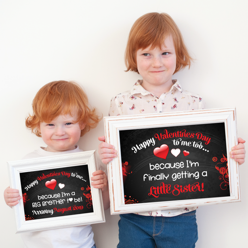 Valentine's Day Baby Announcement Sign (Download Only) BA001