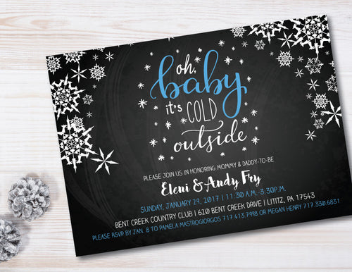 Oh Baby It's Cold Outside Baby Shower Invitation