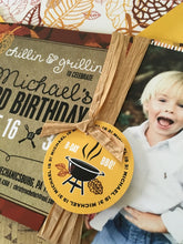 BBQ Barbeque Chilling & Grilling Fall Birthday Invite - KID001