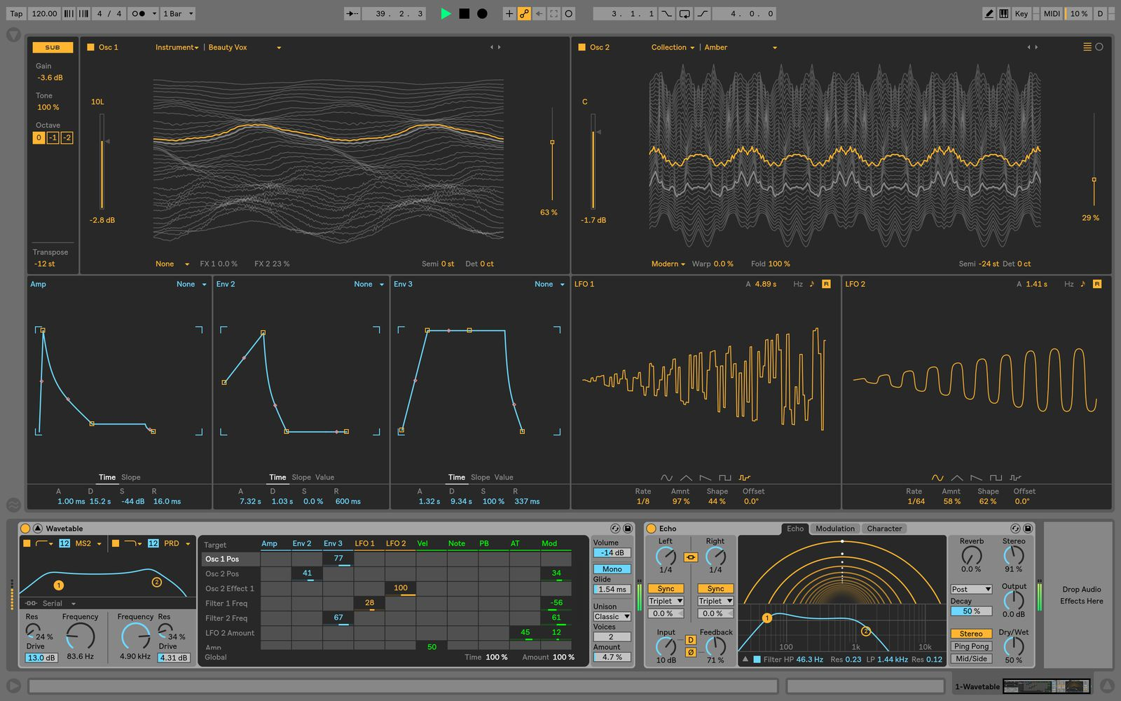 Ableton Live 10 Wavetable synth
