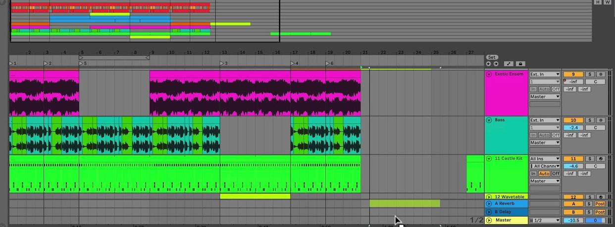 arrangement view ableton
