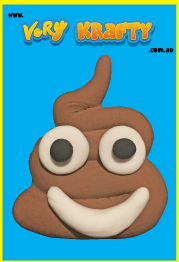 Super Light Air Clay - Big Emoji Poo