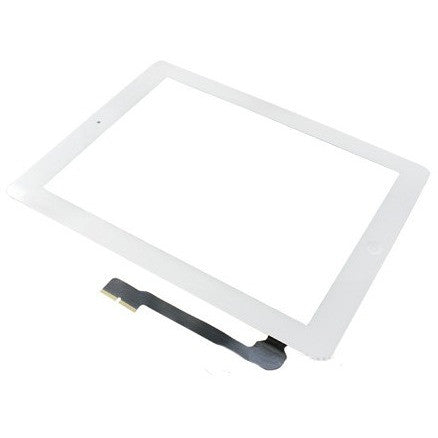Ipad 3 Digitizer with home button & adhesive White