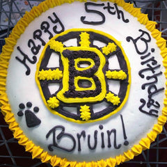 Custom Dog Cake Boston Bruins