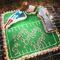 Custom Dog Cake New England Patriots