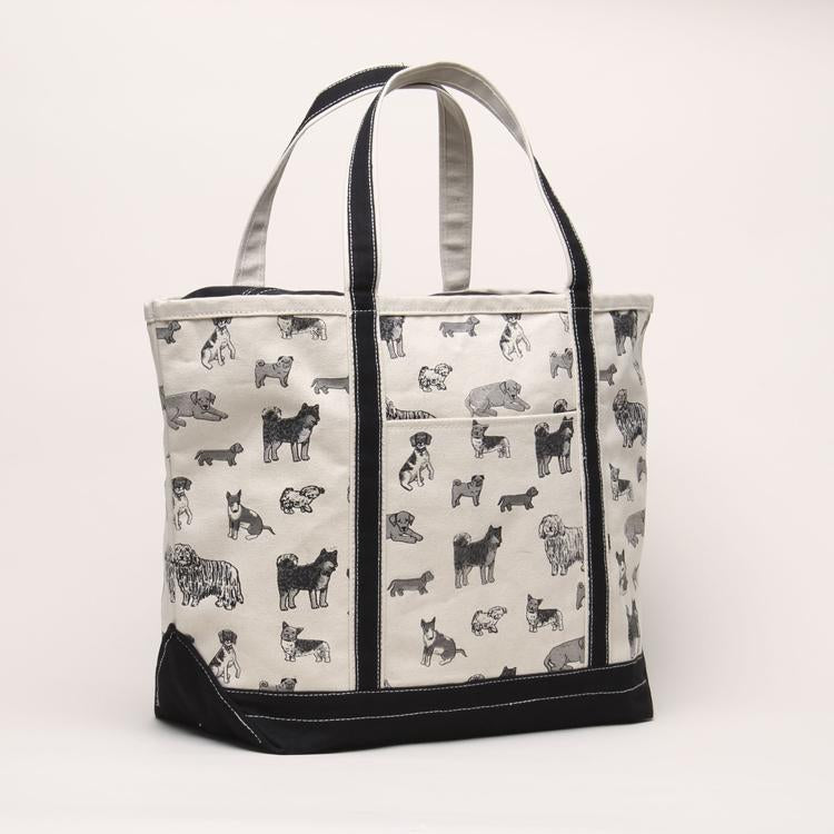 Large Dog Print Boat Tote