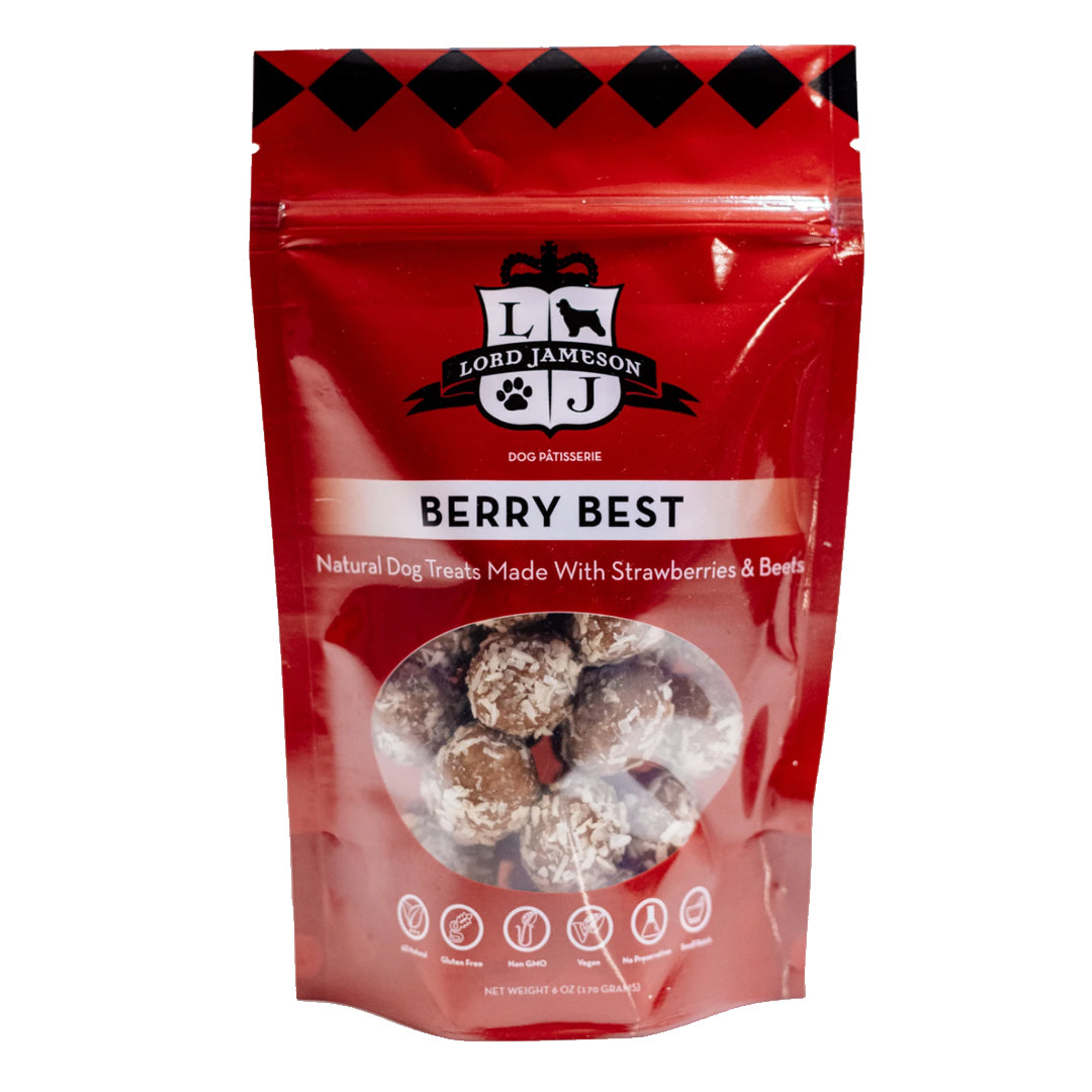 Berry Best Organic Dog Treats - Strawberry & Beets 6oz