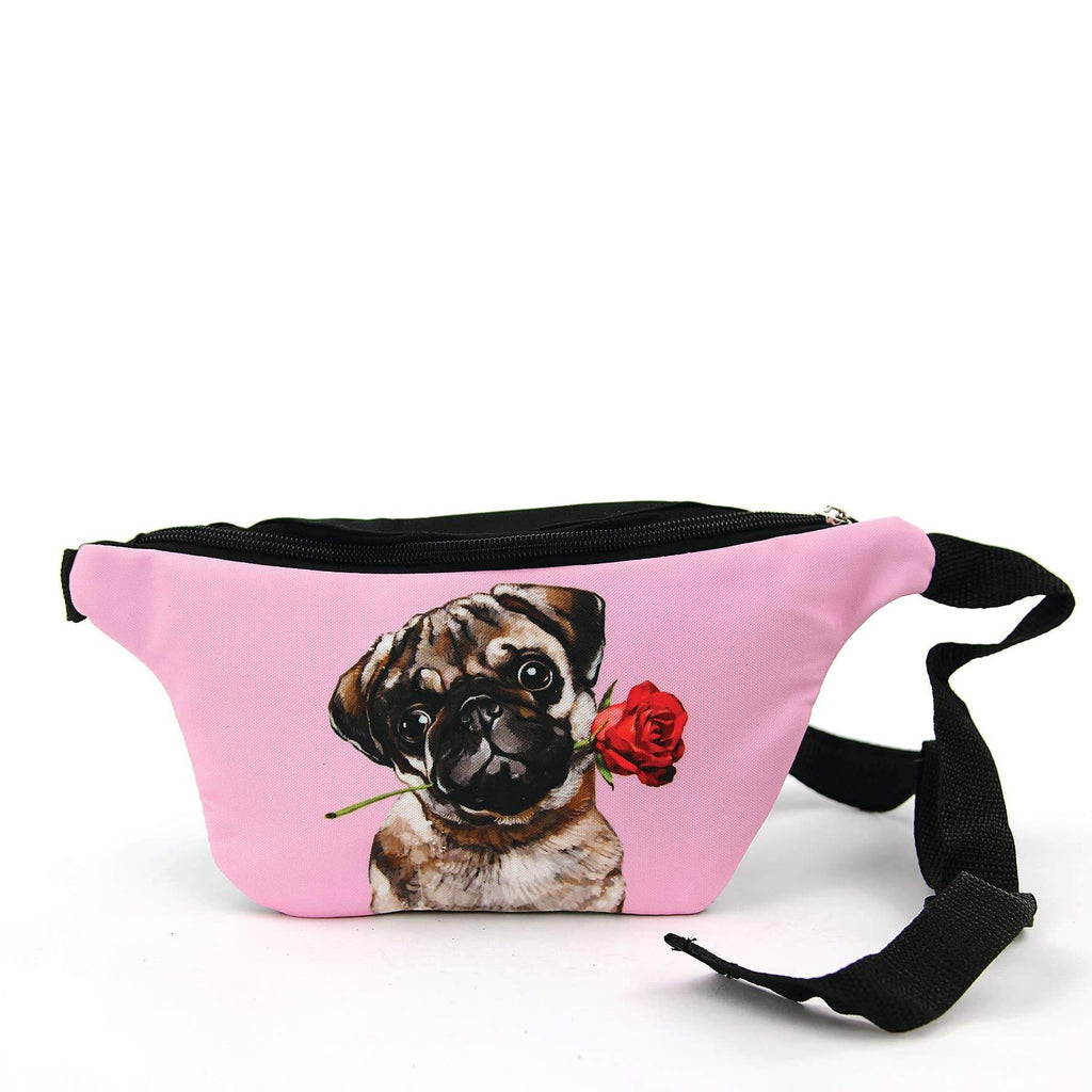 Pug With a Rose Fanny