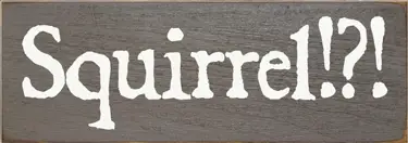 Squirrel?! Wood Sign