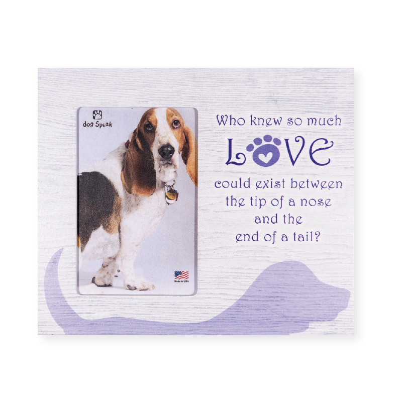 Who Knew So Much Love Dog Vertical Frame