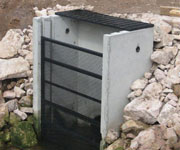 Twin Track Weir with Trash Rack and Grate