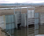 Twin Track Weir Side-by-Side with Stainless Gate