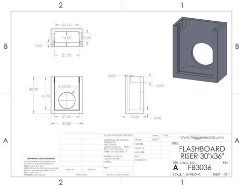 "Flashboard Riser 30"" Wide"