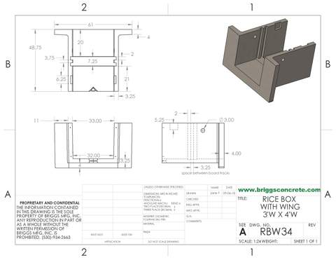 Rice Box Wing 3x4