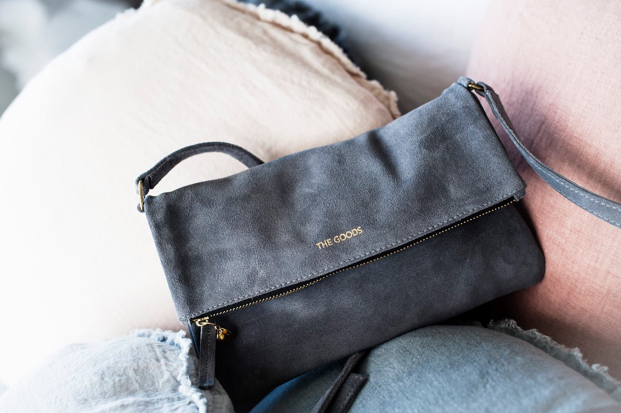 The Goods Pony Suede Bag Slate