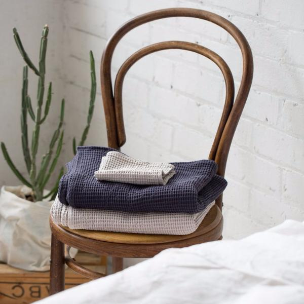 Mavis And Osborn Charcoal Cotton Waffle Range