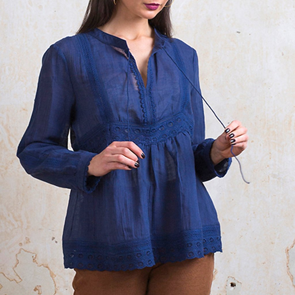 The Essie Blouse Navy