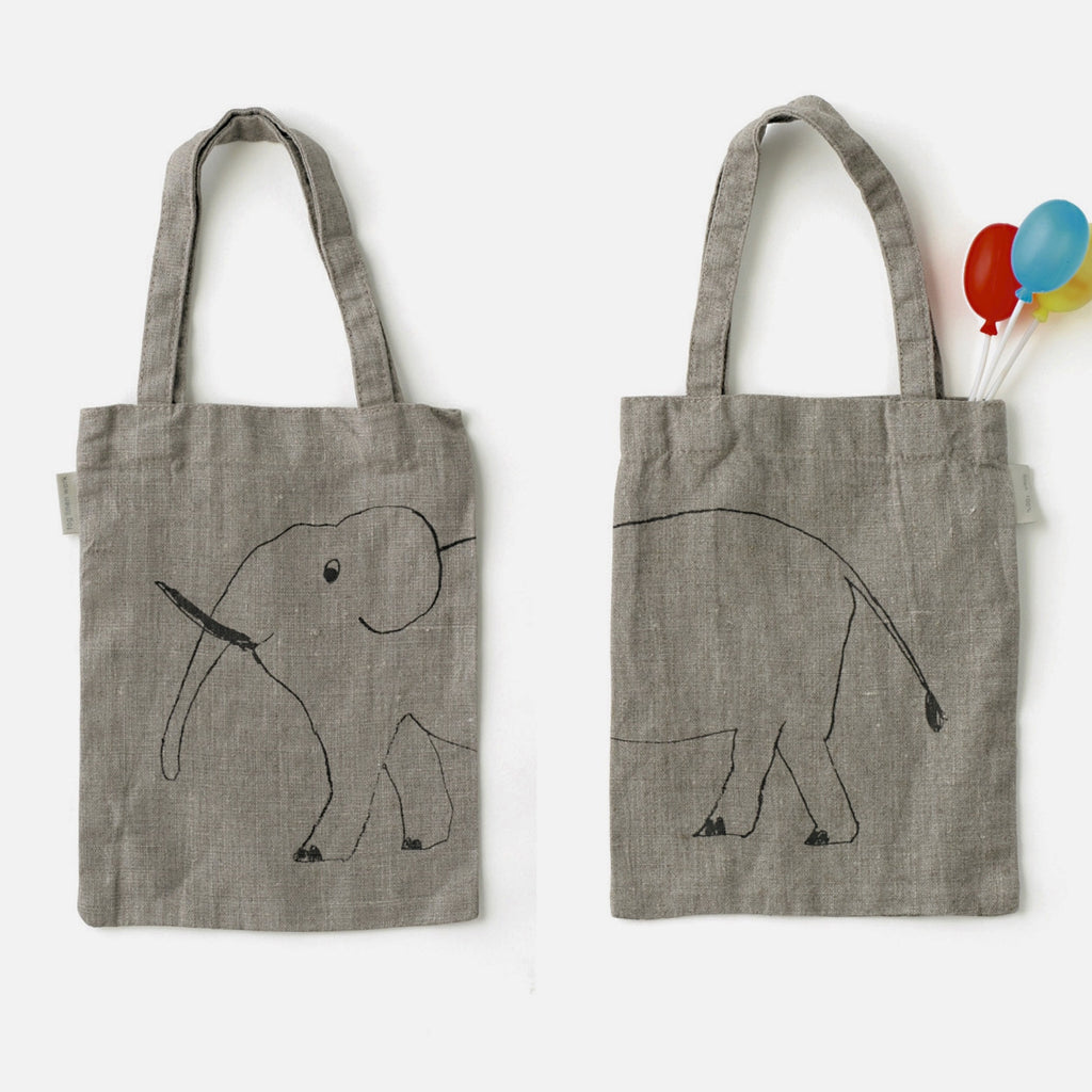 Fog Linen Animal Print Bag: Elephant