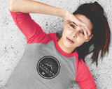 Womens 3/4 Raglan Tee - Circle Logo