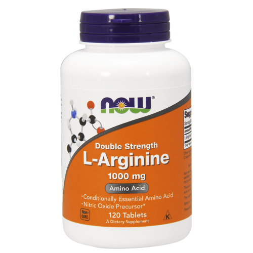 NOW FOODS -L-Arginine, Double Strength 1000 mg - 120 Tablets