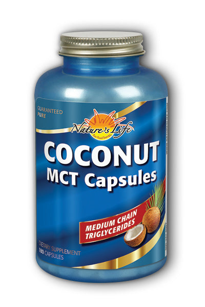 Natures Life -Coconut MCT Capsules, Coconut 180ct