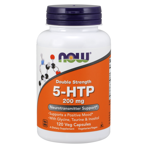 NOW FOODS -5-HTP, Double Strength 200 mg - 120 Veg Capsules