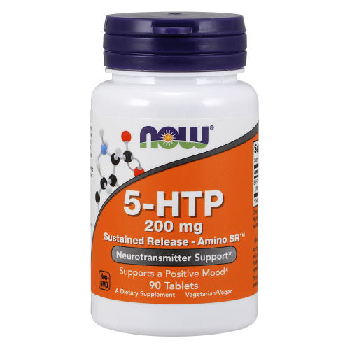NOW FOODS -5-HTP 200 mg Sustained Release - 90 Tablets