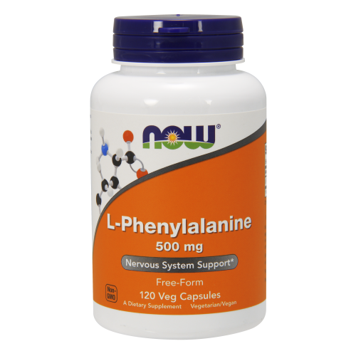 NOW FOODS -L-Phenylalanine 500 mg - 120 Veg Capsules