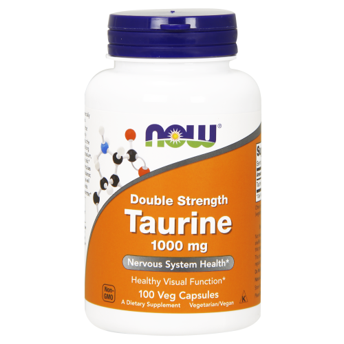NOW FOODS -Taurine, Double Strength 1000 mg - 100 Veg Capsules