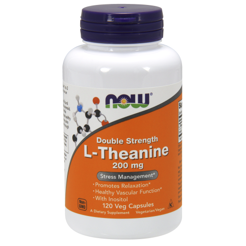 NOW FOODS -L-Theanine 200 mg - 120 Veg Capsules