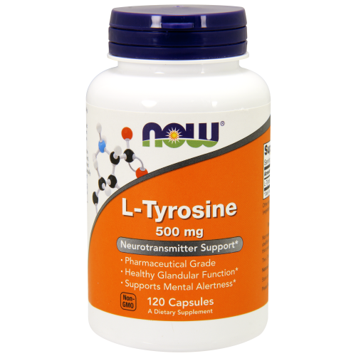 NOW FOODS -L-Tyrosine 500 mg - 120 Capsules