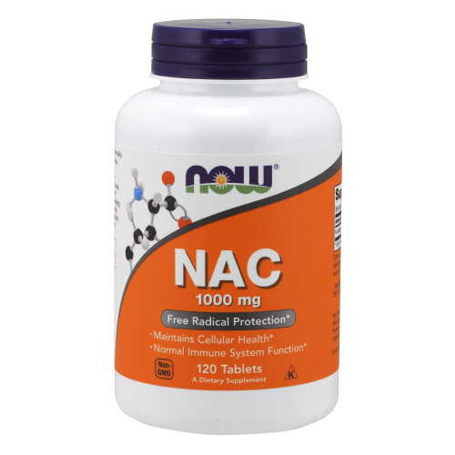 NOW FOODS -NAC 1000 mg - 120 Tablets