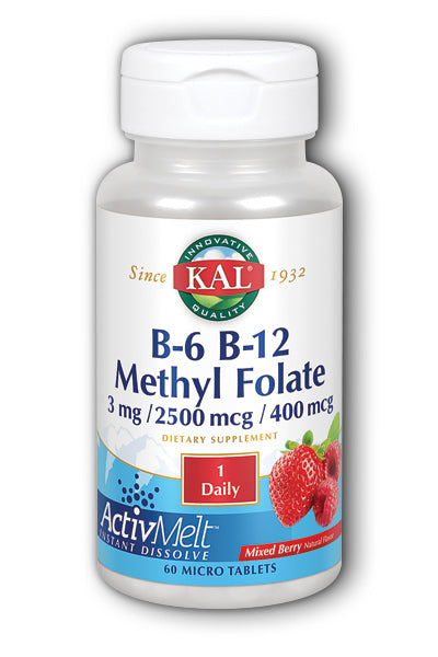 Kal  -B-6 B-12 Methyl Folate ActivMelt 60ct