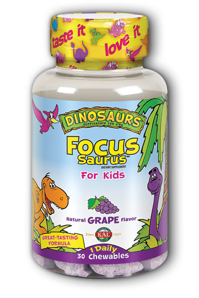 Kal- Focus-Saurus, Chewable, Grape , 30 ct
