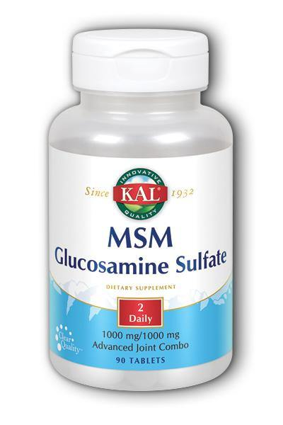 Kal- MSM Glucosamine Sulfate, Tablet, 90 ct